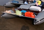 Additional locker for inflatable boat
