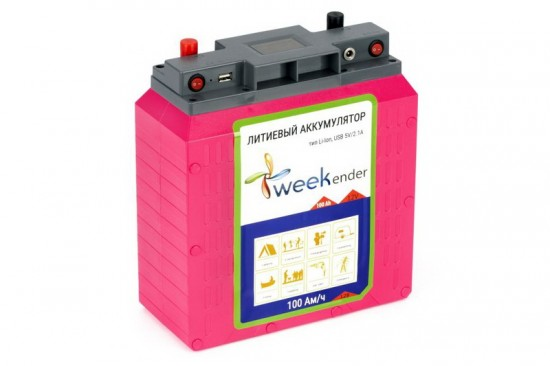 Li-ion battery WEEKENDER 12V 100AH LIFEPO4