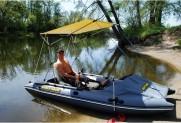 Надувной катамаран для рыбалки FISHER 390