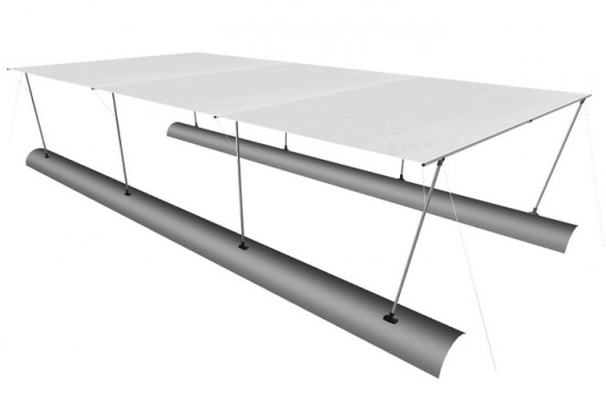 Awning (long) for boat 565*300 (TRAVEL XXL 790)