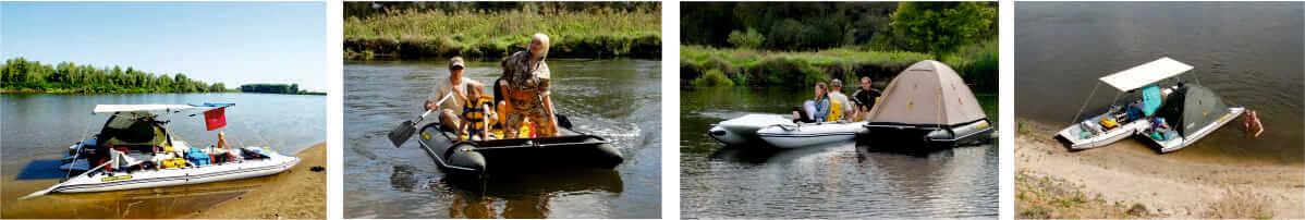 выбор надувной лодки для прогулки