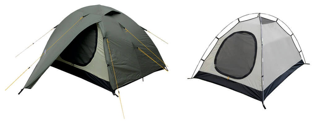 Tent with fixings on the side platform