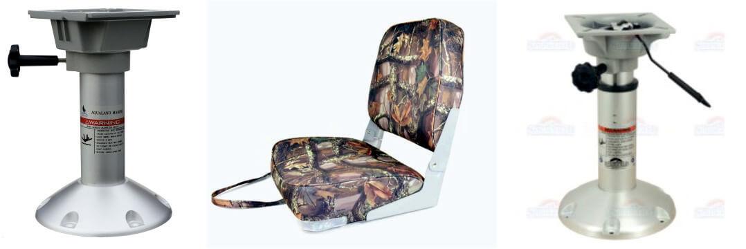 Стойка кресла алюминиевая повотная